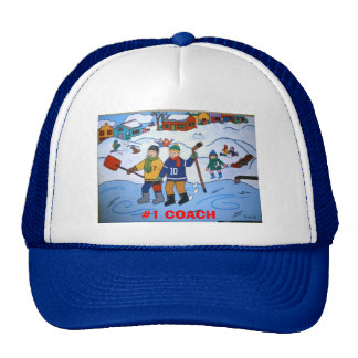 #1 HOCKEY COACH Hat