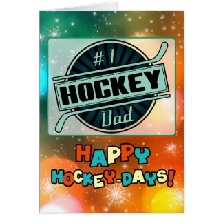 #1 Hockey Dad Christmas Card