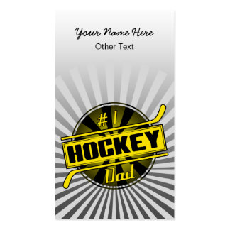#1 Hockey Dad Customizable Business Cards