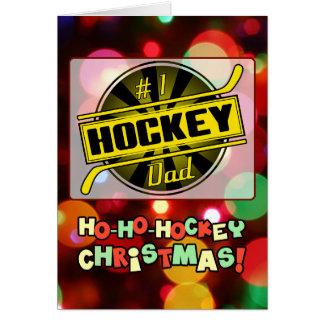 #1 Hockey Dad Gold Christmas Card