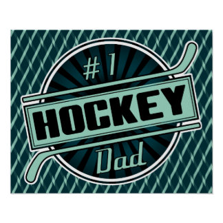 #1 Hockey Dad Poster Print