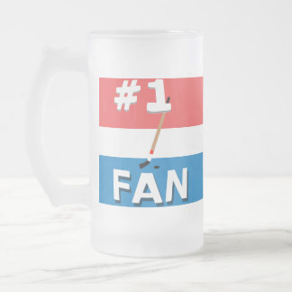 #1 Hockey Fan Red, White, & Bleu Mug