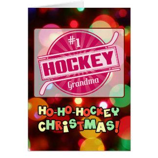#1 Hockey Grandma Christmas Card
