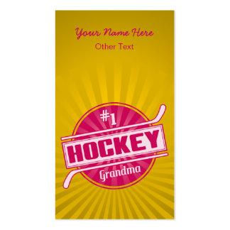 #1 Hockey Grandma Customizable Business Cards