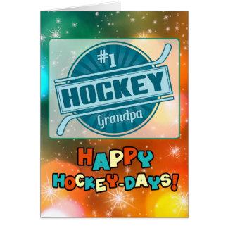 #1 Hockey Grandpa Christmas Card