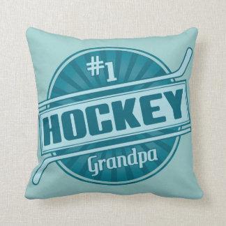 #1 Hockey Grandpa Throw Pillow