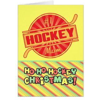 #1 Hockey Mom Christmas Card