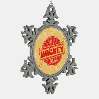 #1 Hockey Mom Christmas Tree Snowflake Ornament
