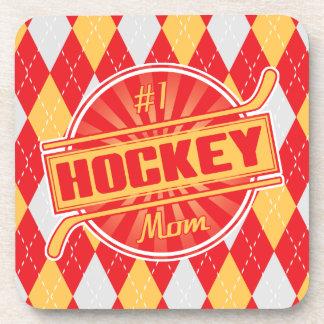 #1 Hockey Mom Drinks Mats Coaster