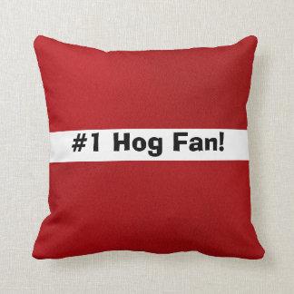 # 1 Hog Fan! Throw Pillows