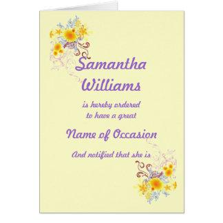 1 Hot Grandma Custom Card