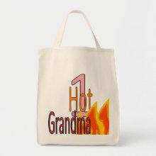 1 Hot Grandma tote bag