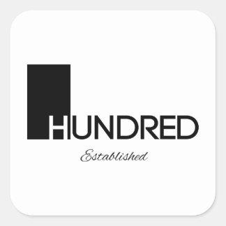 1 Hundred© Brand Goods Square Sticker
