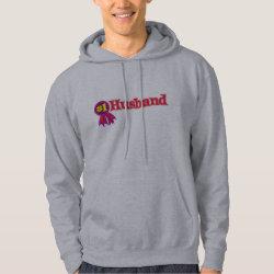 Men's Basic Hooded Sweatshirt with #1 Husband Award design