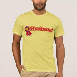 Men's Basic American Apparel T-Shirt with #1 Husband Award design