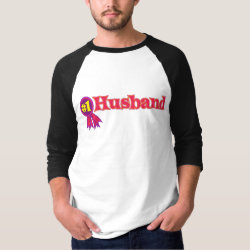 Men's Basic 3/4 Sleeve Raglan T-Shirt with #1 Husband Award design