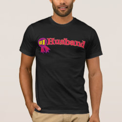 Men's Basic American Apparel T-Shirt with #1 Husband Award design