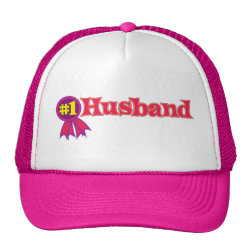 Trucker Hat with #1 Husband Award design