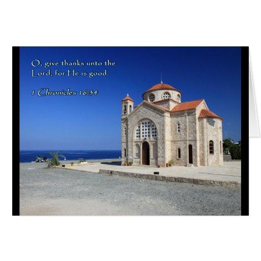1 iglesia de Chipre del 16:34 de las crónicas Tarjeta De Felicitación