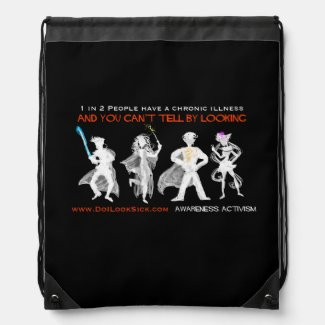 1 in 2 Cosplayers Invisible Illness Bag Drawstring Bags