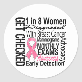 1 in 8 Women - Breast Cancer Awareness Round Sticker
