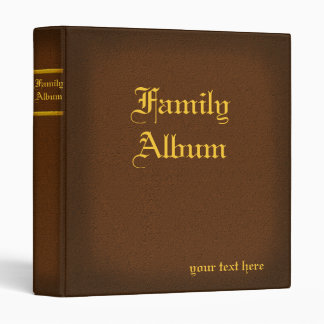 1 in. Brown Family Album Binder