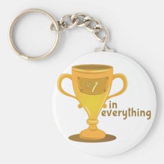 #1 In Everything Basic Round Button Keychain