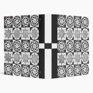 1 inch Black and White Motifs Binder