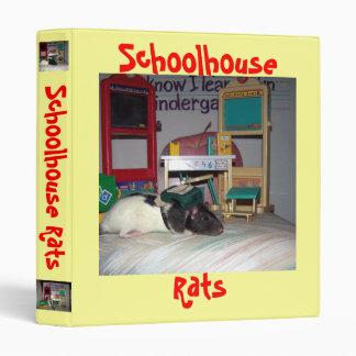 1 Inch Schoolhouse Rats Binder