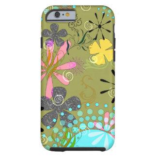 1 iPhone duro floral retro 6 cubiertas del caso Funda De iPhone 6 Tough