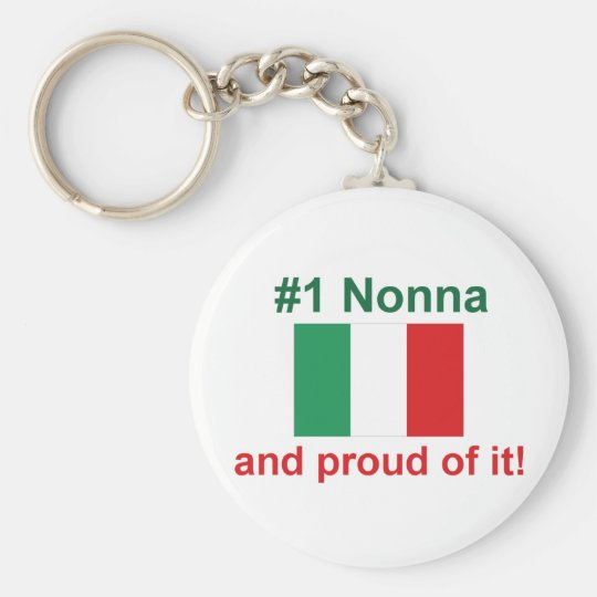 #1 Italian Nonna and proud of it! Gift Keychain