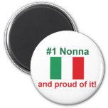 #1 Italian Nonna (Grandmother) 2 Inch Round Magnet
