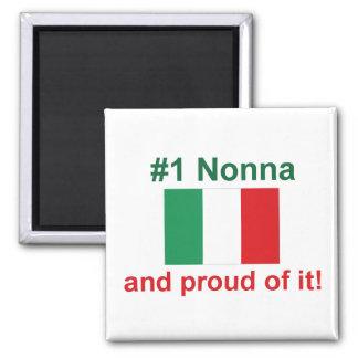 #1 Italian Nonna (Grandmother) 2 Inch Square Magnet