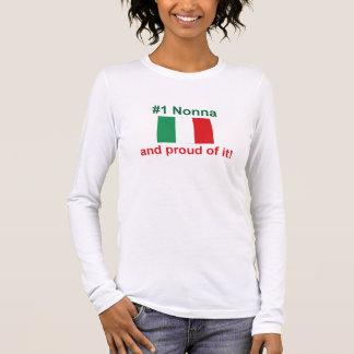 #1 Italian Nonna (Grandmother) Long Sleeve T-Shirt