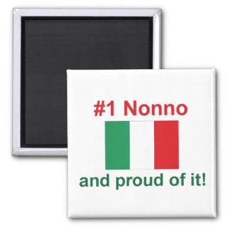#1 Italian Nonno 2 Inch Square Magnet