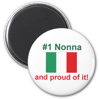 #1 italiano Nonna (abuela) Imán Redondo 5 Cm