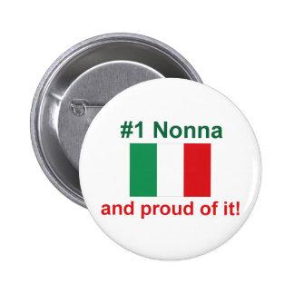 ¡#1 italiano Nonna y orgulloso de él! Regalo Pins