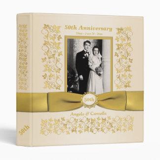 """1"""" Ivory 50th Wedding Anniversary Photo Binder"""