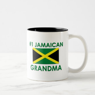 #1 Jamaican Grandma Two-Tone Coffee Mug