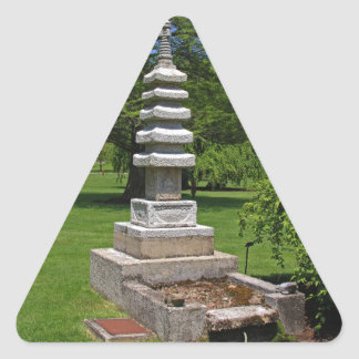 1 Joe and Marie Schedel Pagoda-horizontal.JPG Triangle Sticker