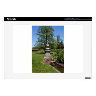 "1 Joe and Marie Schedel Pagoda- vertical.JPG 15"" Laptop Skins"