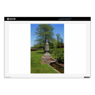 "1 Joe and Marie Schedel Pagoda- vertical.JPG 17"" Laptop Skins"