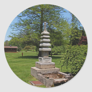 1 Joe and Marie Schedel Pagoda- vertical.JPG Classic Round Sticker