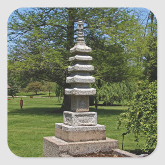 1 Joe and Marie Schedel Pagoda- vertical.JPG Square Sticker