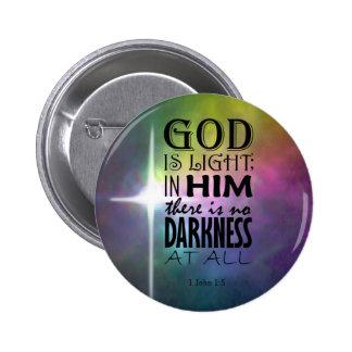 1 John 1:5 2 Inch Round Button