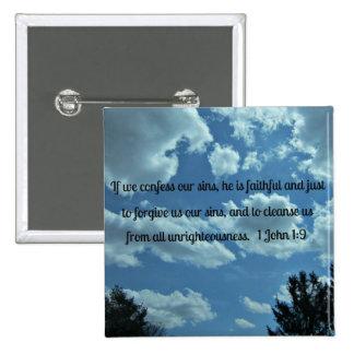 1 John 1:9 Button