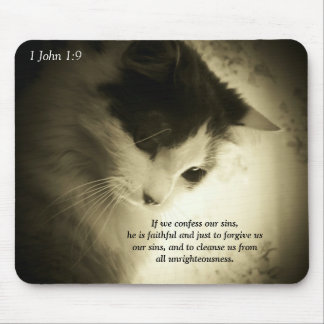 1 John 1:9 Faithful to Forgive Mouse Pad