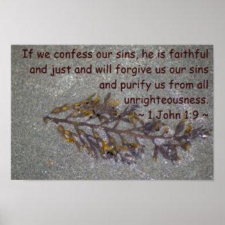 1 John 1:9 Poster