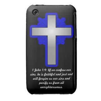 1 John 1:9 with Cross Case-Mate iPhone 3G/3GS Case