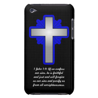 1 John 1:9 with Cross Case-Mate iPod Touch Cases